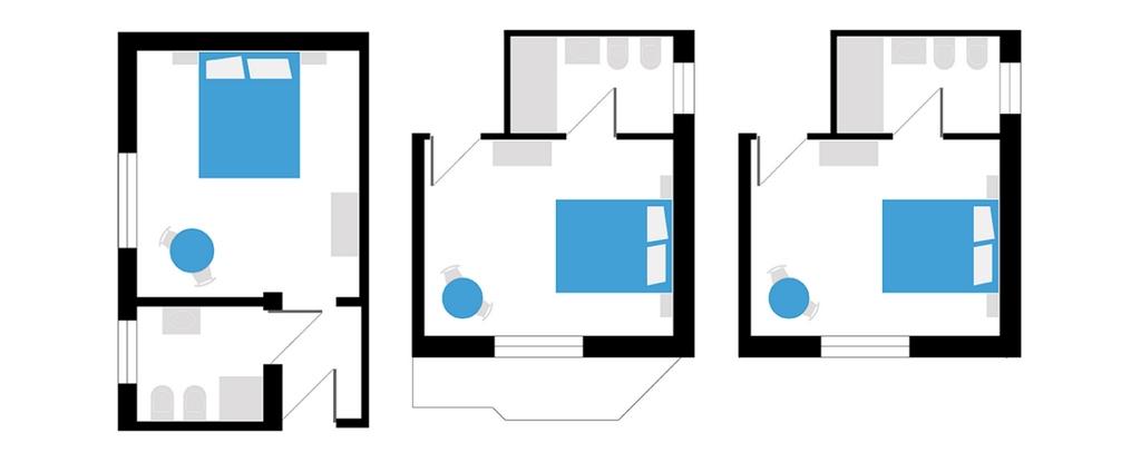 Chambres doubles petit hotel votre maison la mer en for Plan architecte chambre hotel