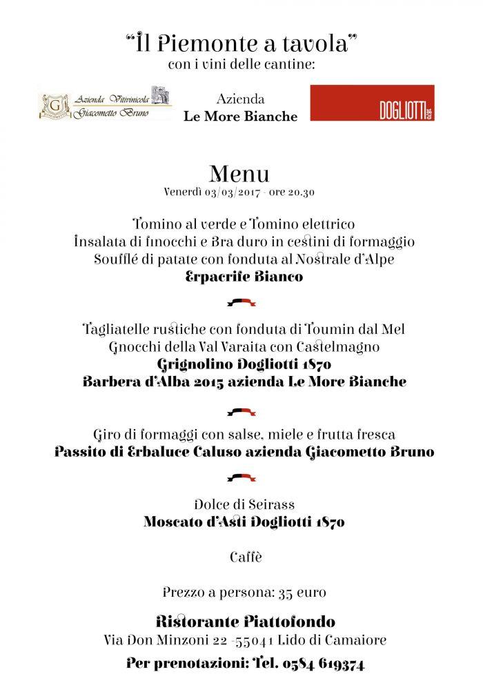 Piattofondo ospita il Piemonte a tavola anno 2017