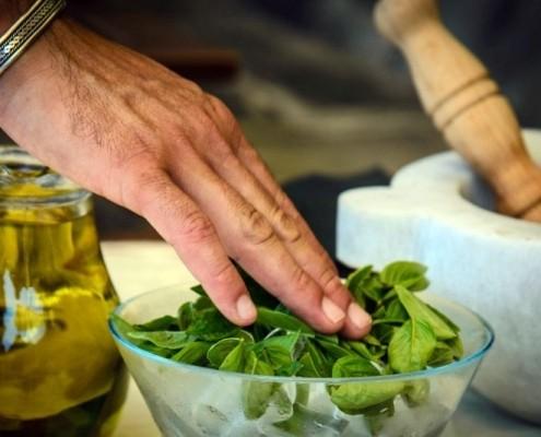 Pesto Manarola course