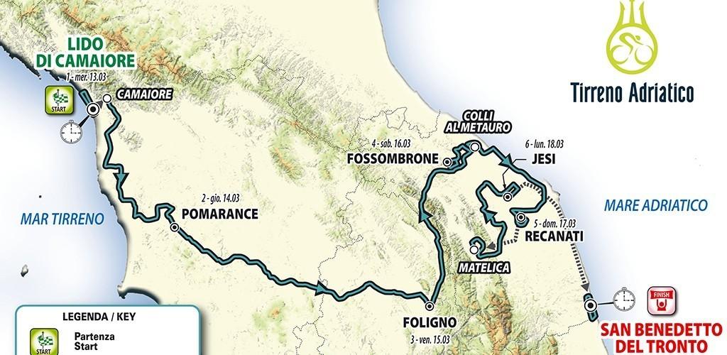 Percorso2019 Tirreno Adriatico