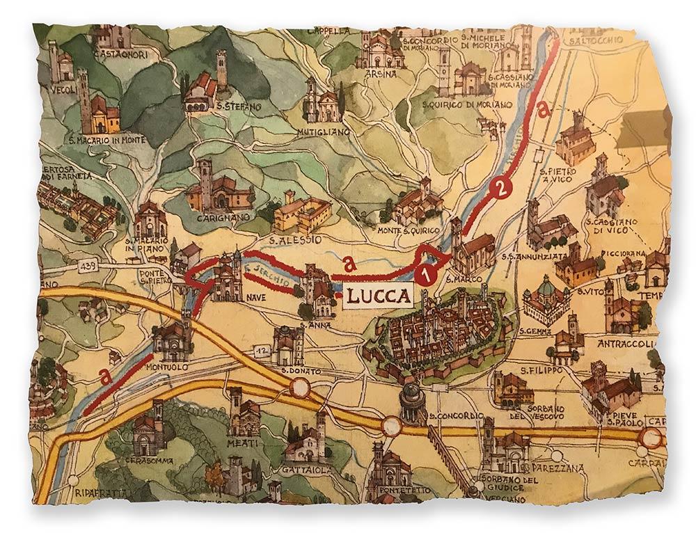 Mappa del Parco fluviale del Serchio